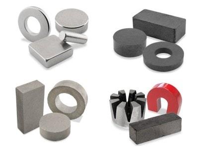 Neodymium, Ceramic, Samarium Cobalt, and Alnico Magnets