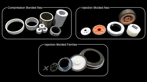 Bonded Neodymium and Ferrite Magnets