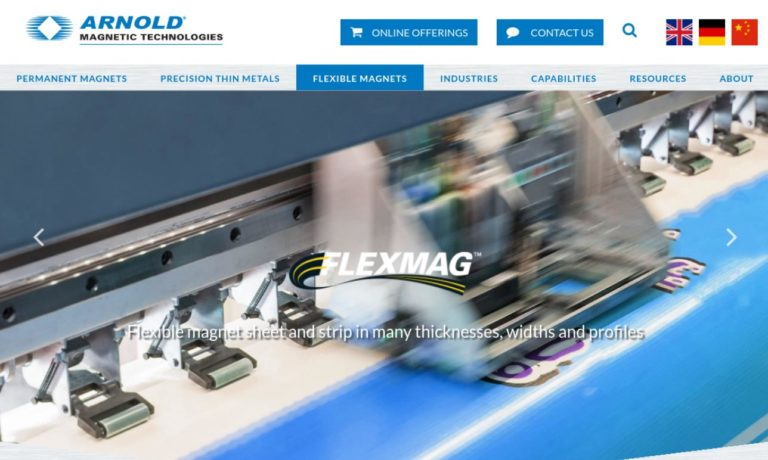 Flexmag Industries, Inc. Division of Arnold Magnetic Technologies