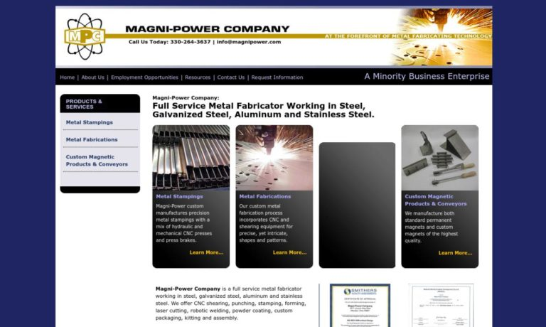 Magni-Power Company Magnetics Division